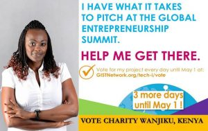 Charity Wanjiku's poster during the voting duration.