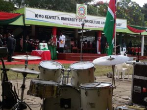 Pitson's music set during JKUAT's 20th anniversay celebration last year.