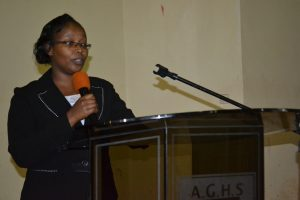 Dorothy Kahenya, the COD Social Media & Customer Relations Department addresses the students