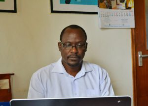Prof. Wafula in his office at iCEOD.