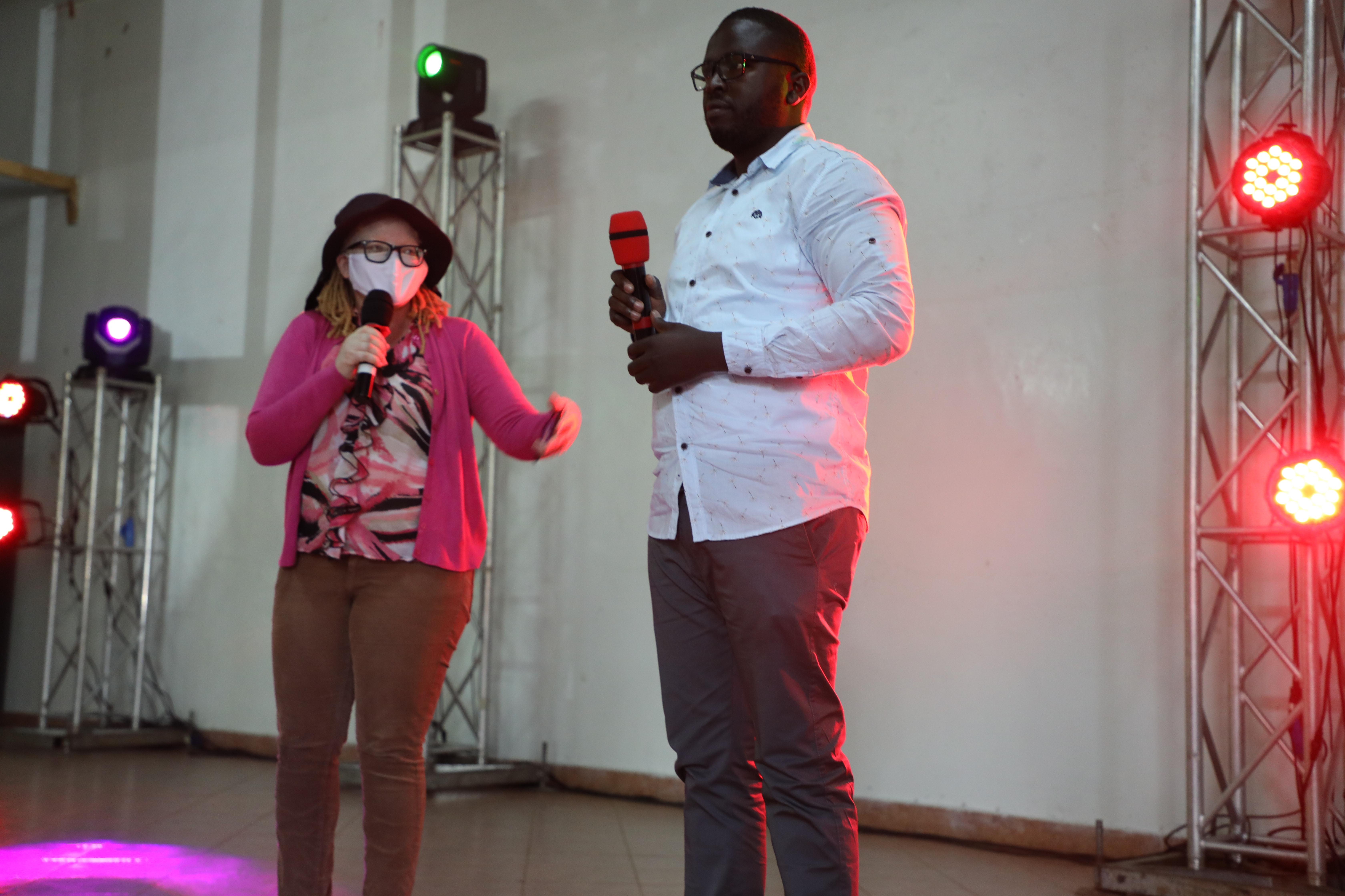 Light of the World Programme Officer, Jane Waithera and Paul Mugambi.