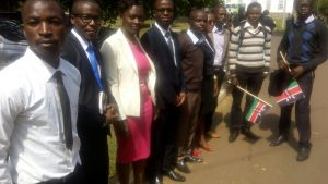 Some of the JKUAT graduates, at State House, Nairobi, on 5th July.