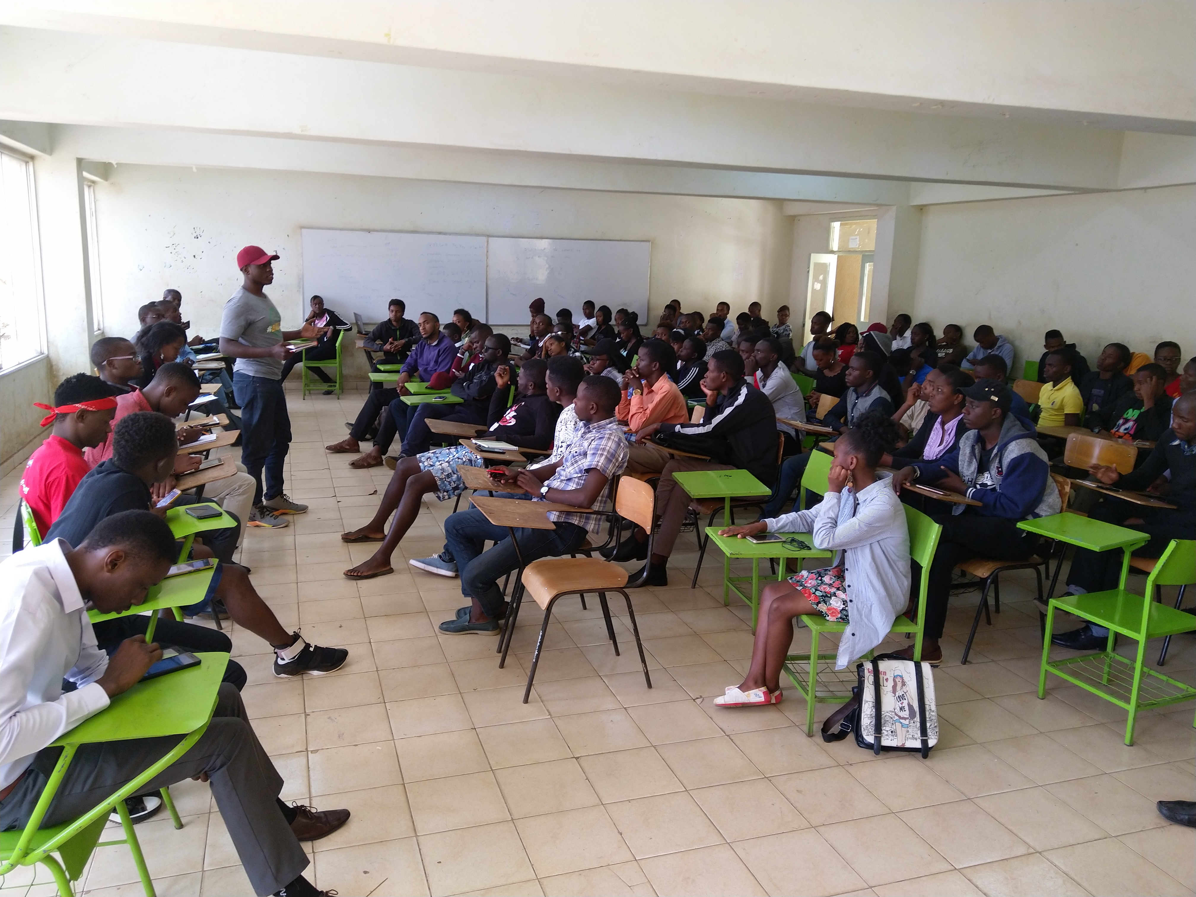JKUAT class representatives and JKUSA in a meeting last month to discuss matters suicide
