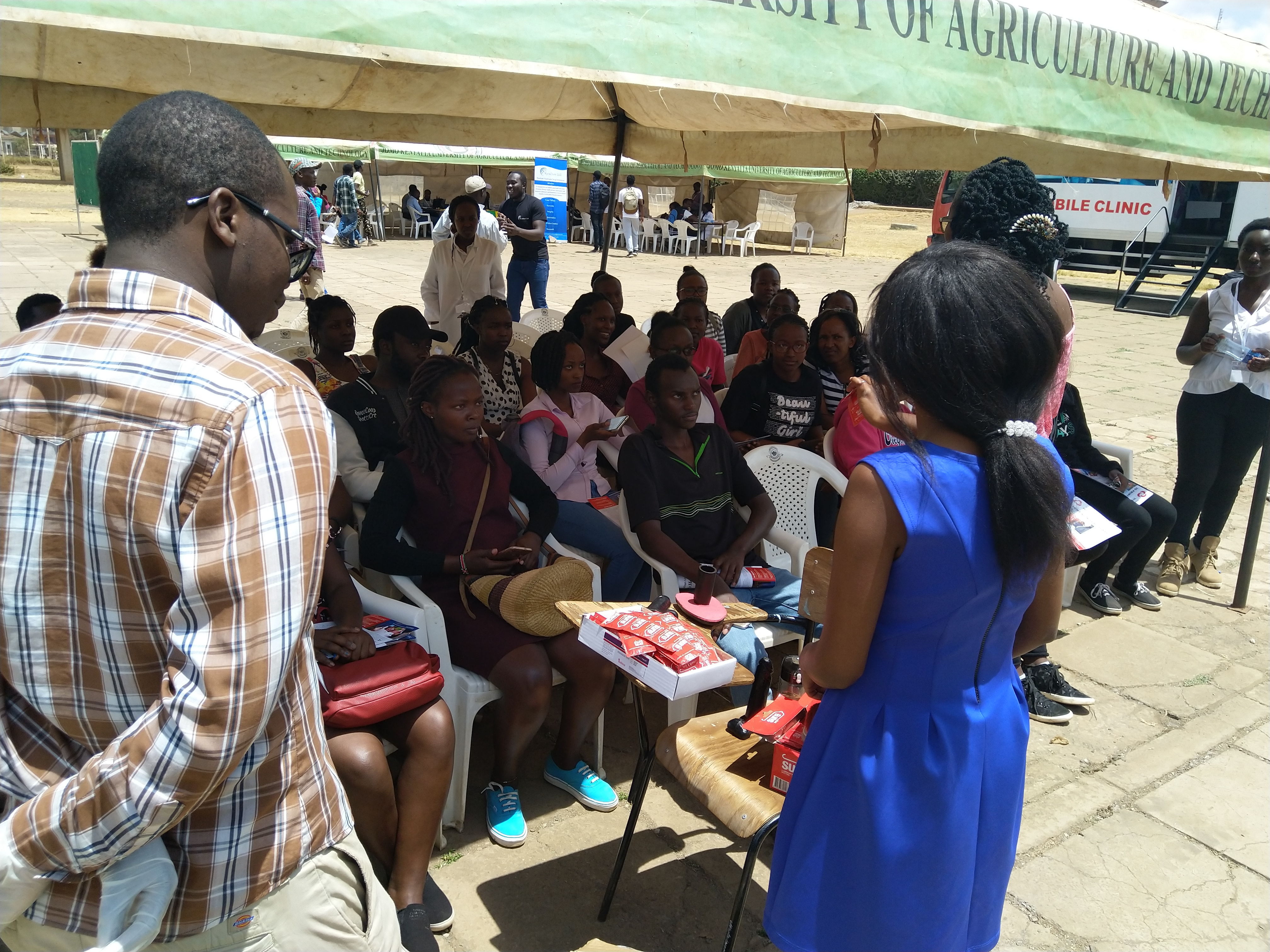 Students undergo a sensitization on sexual reproductive health.