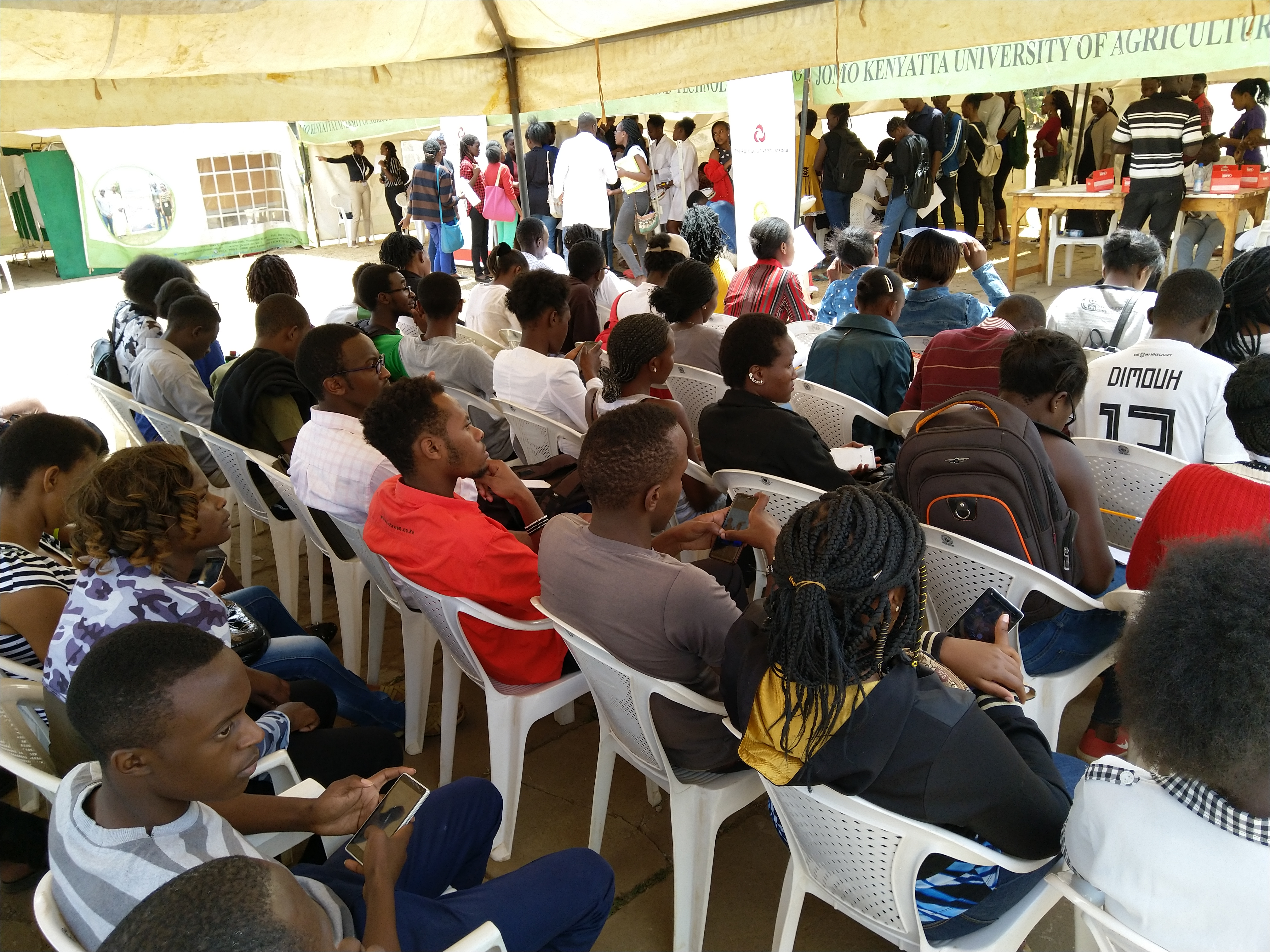 The waiting bay on the last day of the health drive.