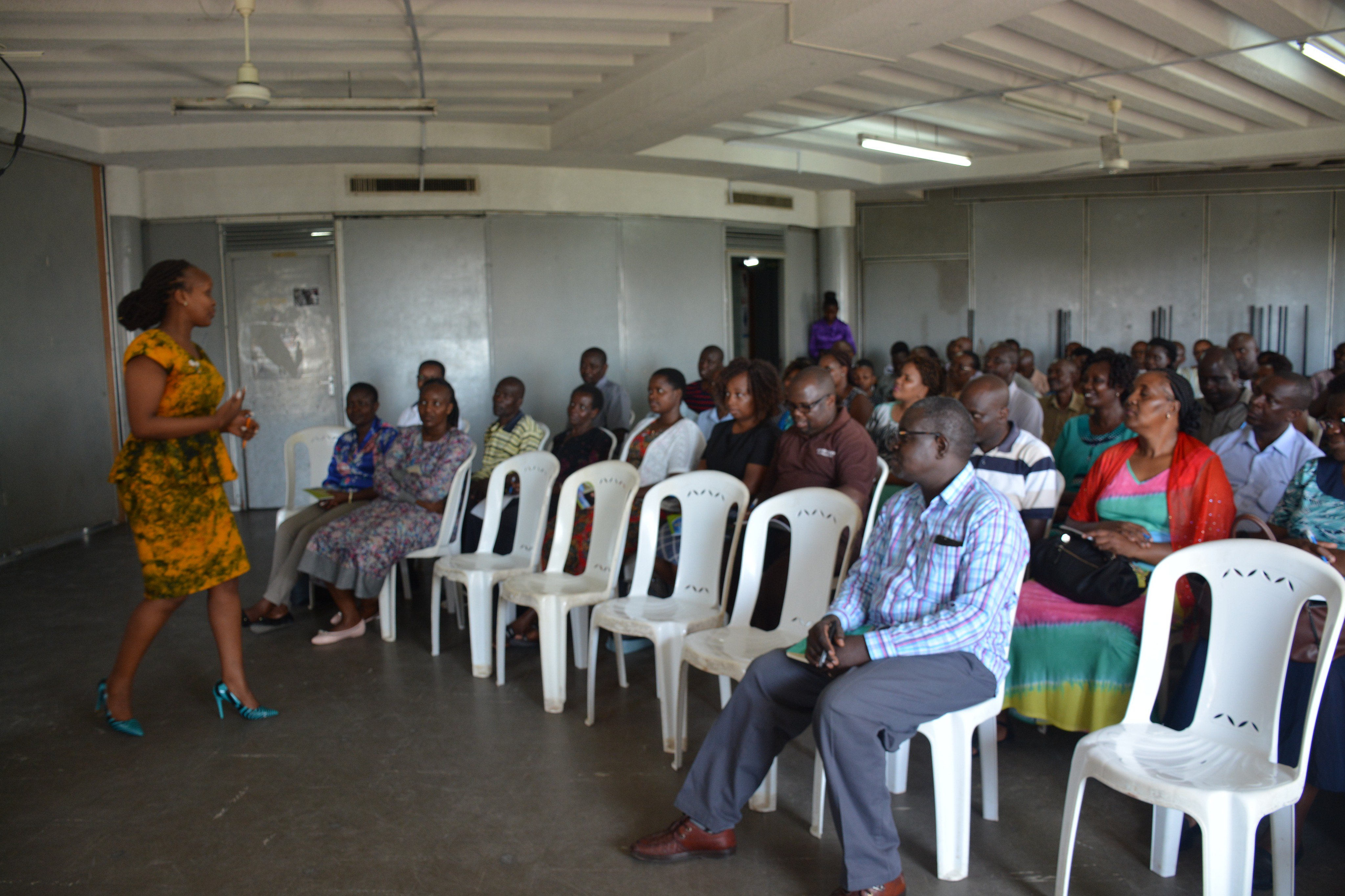 Dr. Fridah conducting a training at one of the short courses sessions at the Campus