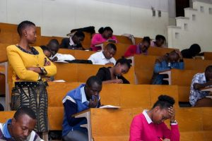 JKUAT students taking an aptitude test by Copy Cat Ltd on 25th May,2016 at SCC 100, JKUAT. The test was to determine suitable candidates for the Copy Cat Management Trainee program.