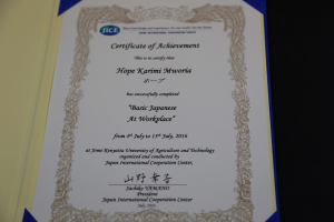 The Certificate of Achievement