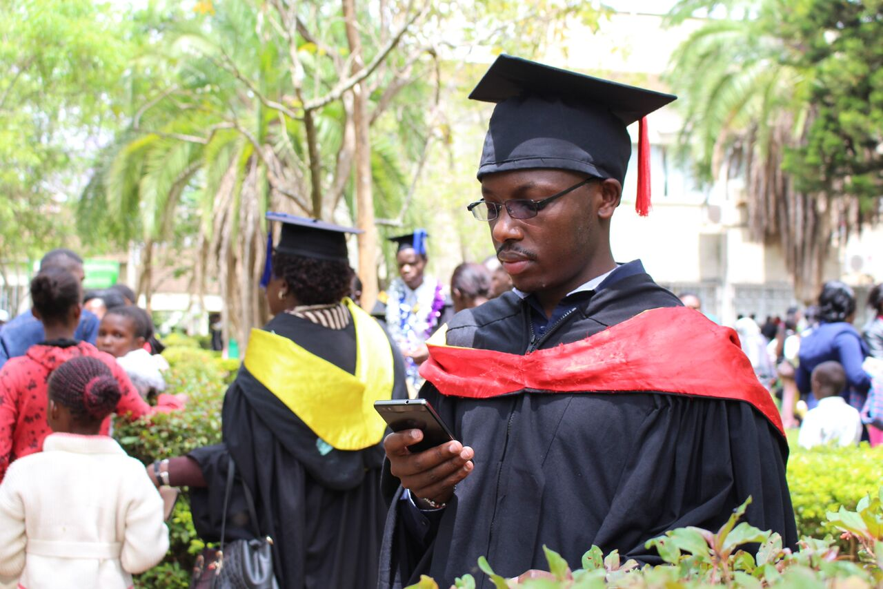 Peter Macharia during his M.Sc. Graduation in November, 2017.