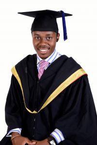 Sammy Luvinzu on his graduation day
