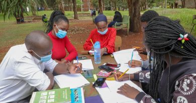 Students revising  for exams in a study group.