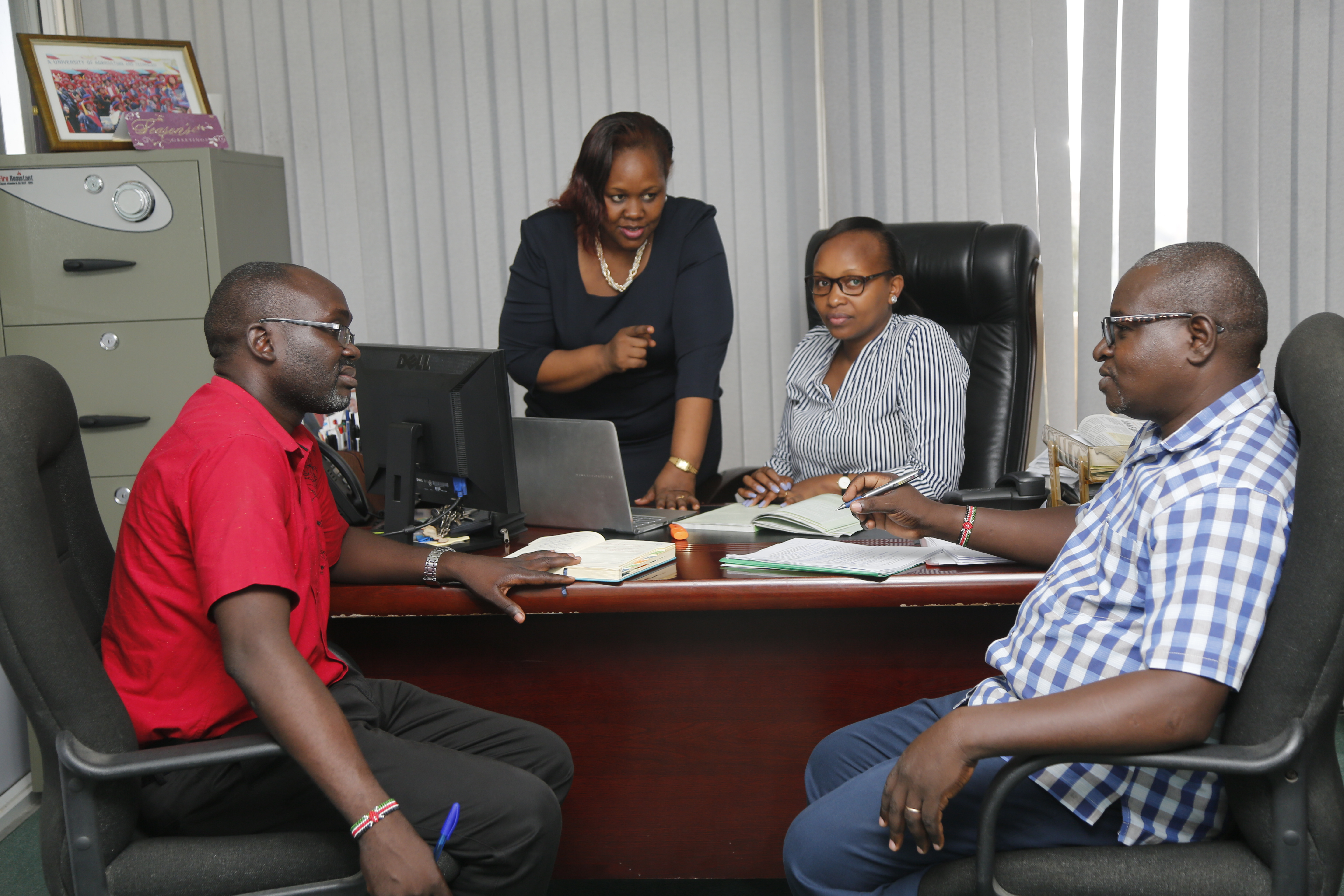 Dr. Fridah with part of staff members at Mombasa Campus