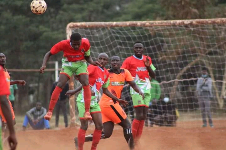 JKUAT Panthers, the men's soccer team during the match at the KUSA National playoffs